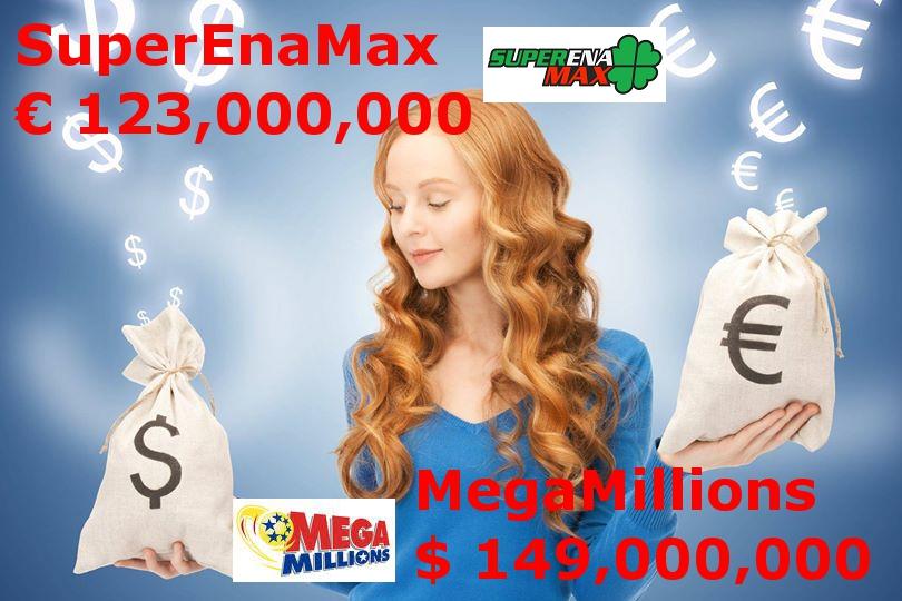 Mega Millions 149 mil + SuperEna Max 123 mil